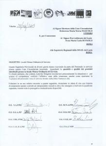 Nota Unitaria Mensa Ordinaria di Servizio C C  Viterbo