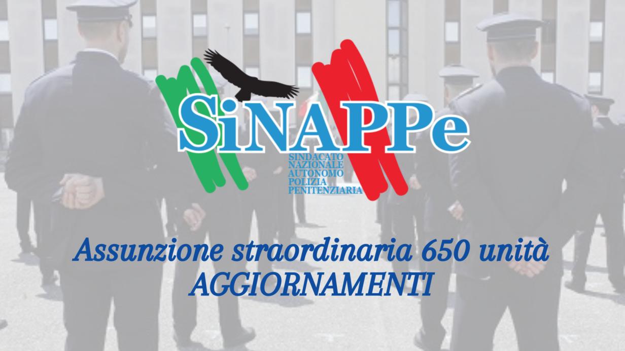 assunzione straordinaria 650 unita polizia penitenziaria aggiornamenti concorso sinappe sindacato polizia penitenziaria