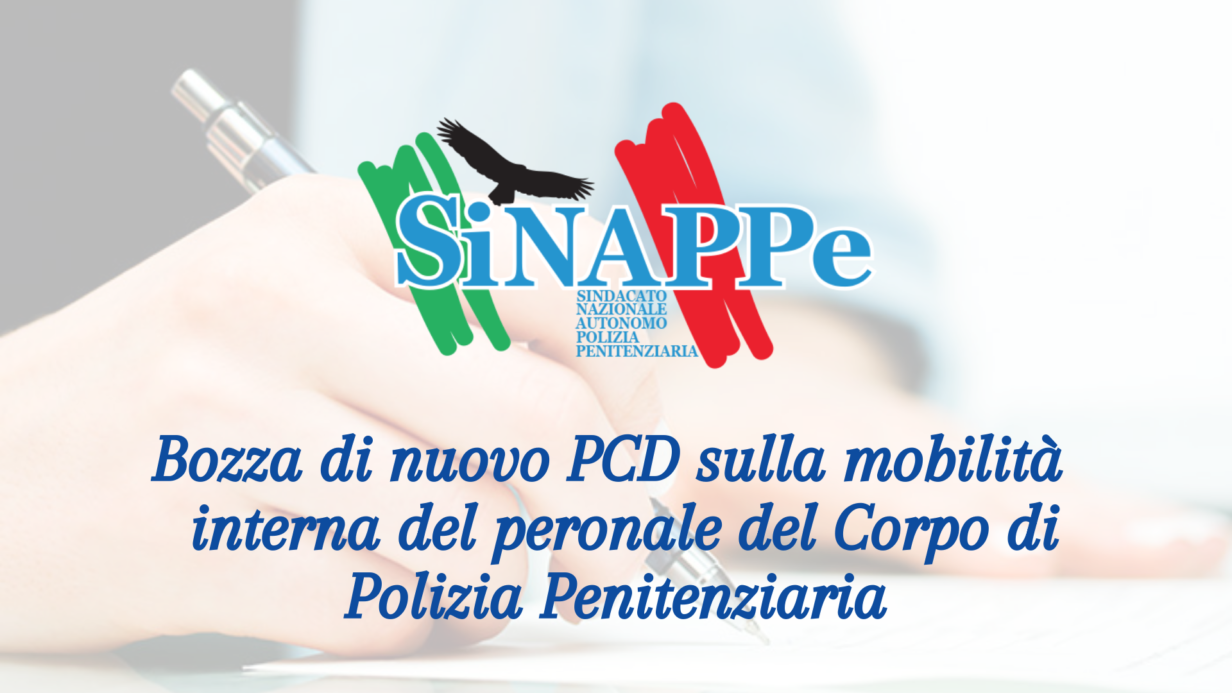 Bozza nuovo PCD mobilità interna personale di Polizia Penitenziaria - Convocazione 31.3.2021